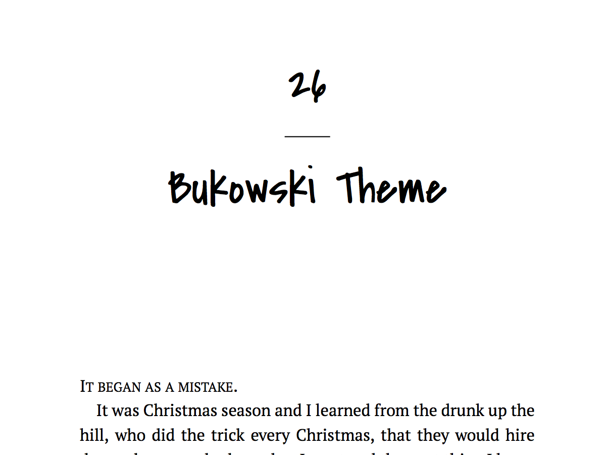 Screenshot of Bukowski
