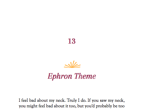 Named after Nora Ephron, this theme is built for literary fiction, or any kind of novel.