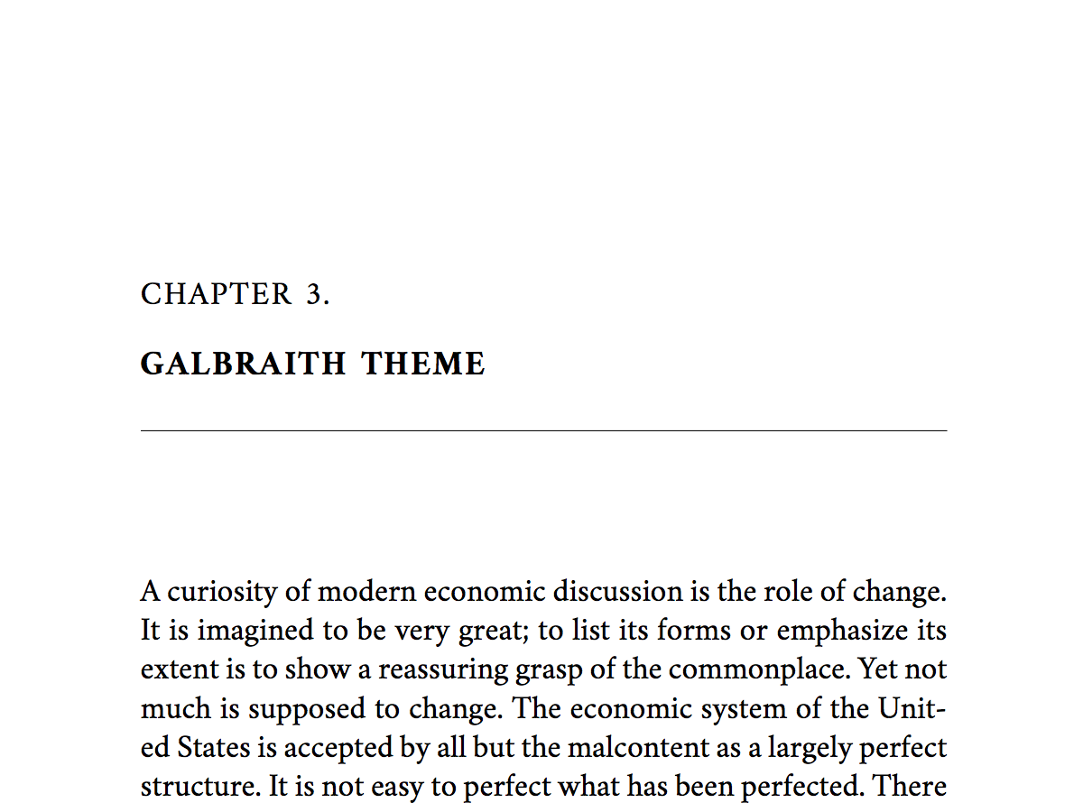 Named for John Kenneth Galbraith, this classic theme is suitable for serious nonfiction, academic nonfiction, and literary fiction.