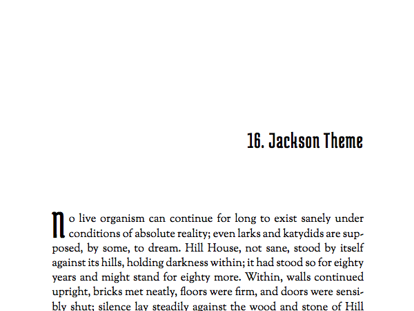 Named after Shirley Jackson, this theme is built for horror, romance, and gothic books, but can also work well with memoirs and literary non-fiction.