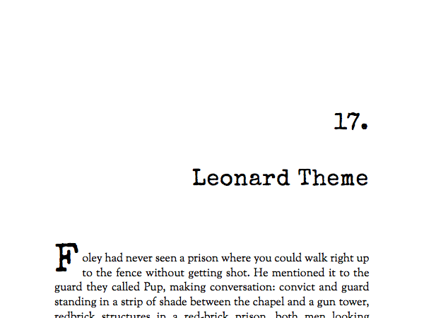 Named after Elmore Leonard, this theme is built for crime, thrillers, and mystery.