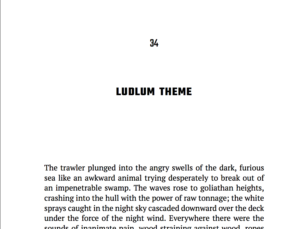 Named for Robert Ludlum, this theme will do well for thrillers, serious fiction, mysteries, and some non-fiction.