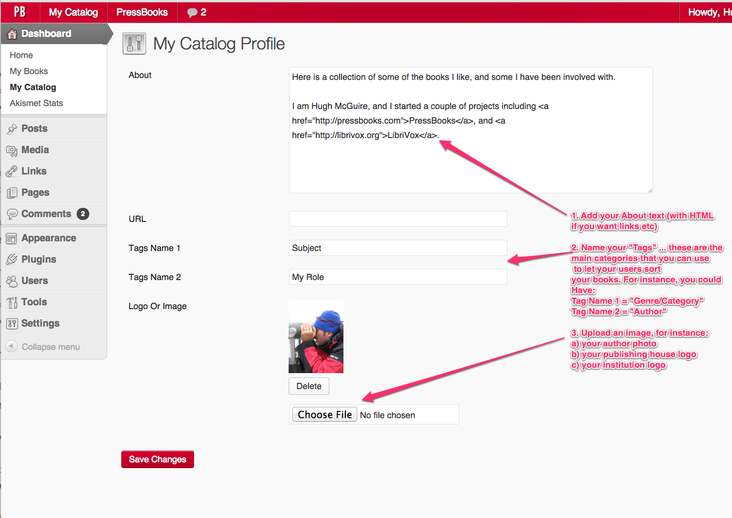 Catalog Profile Page