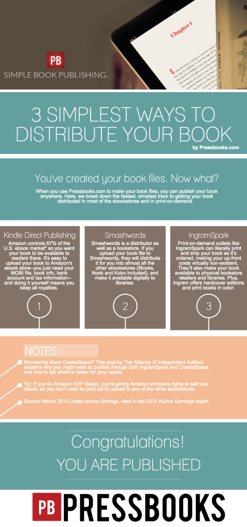 Infographic: Where and how to publish and distribute your book