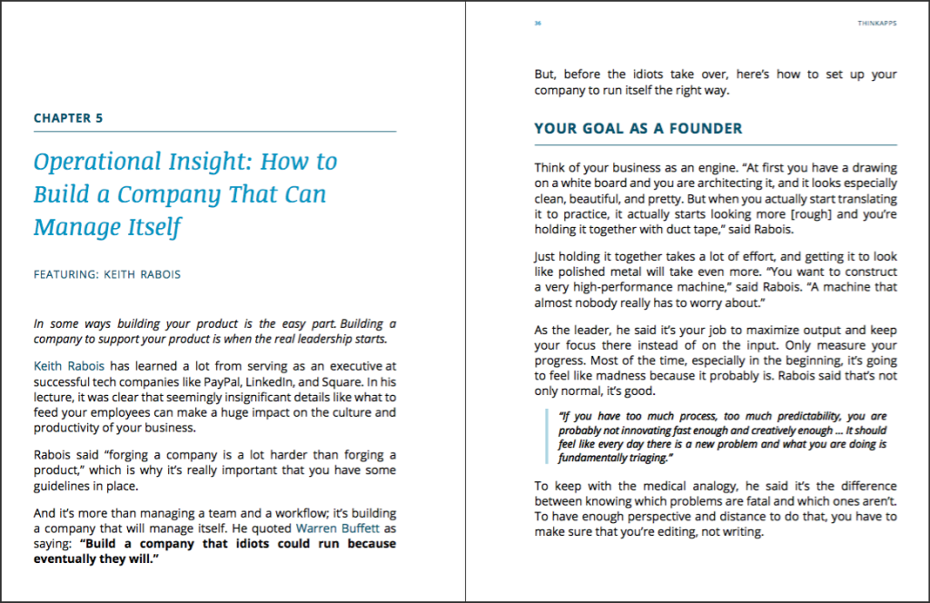 How to Start a Startup-The Book Interior