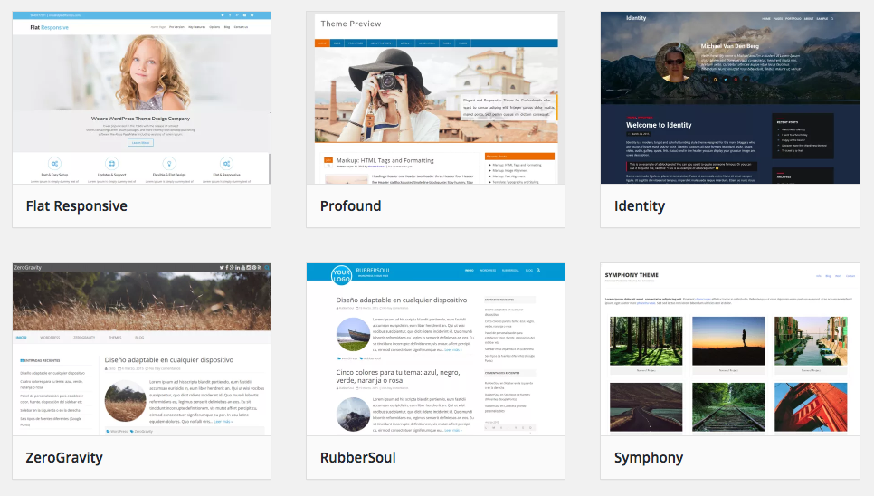 A search on the WordPress.org theme directory