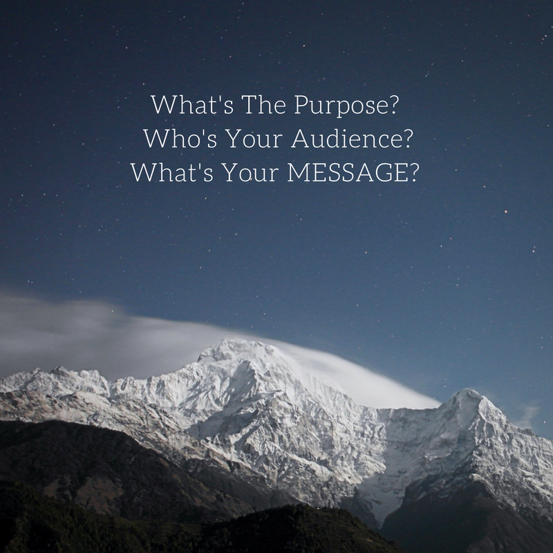 message audience purpose graphic