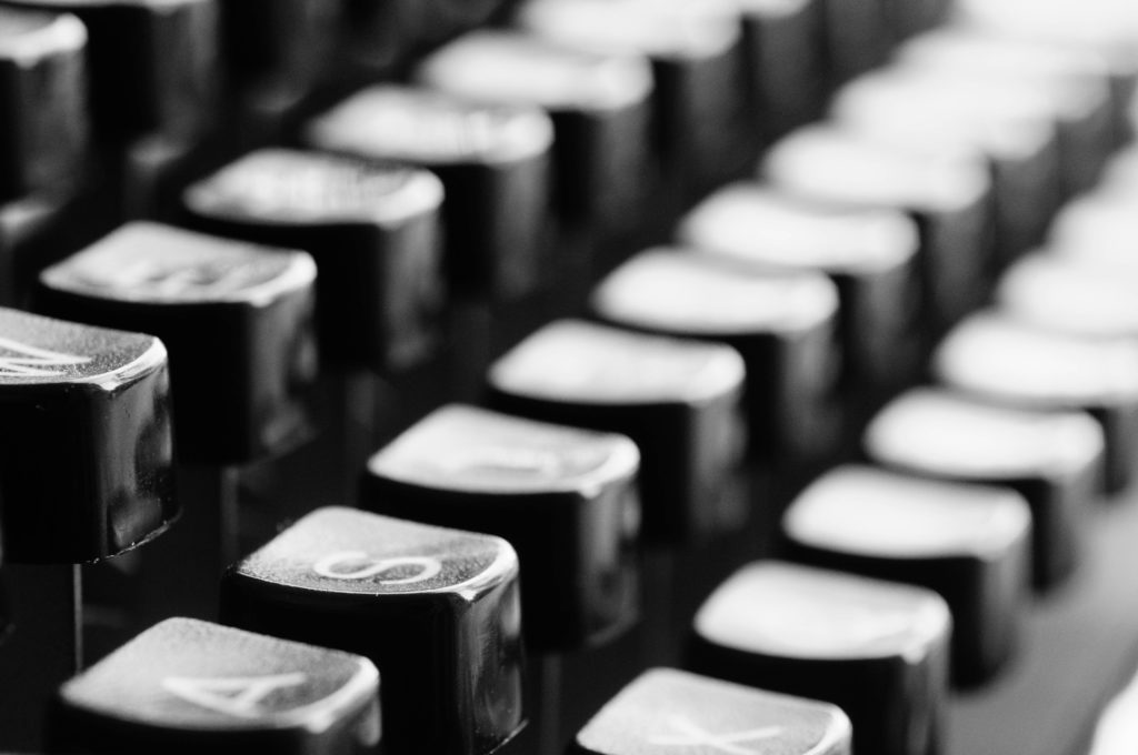 typewriter keys photo