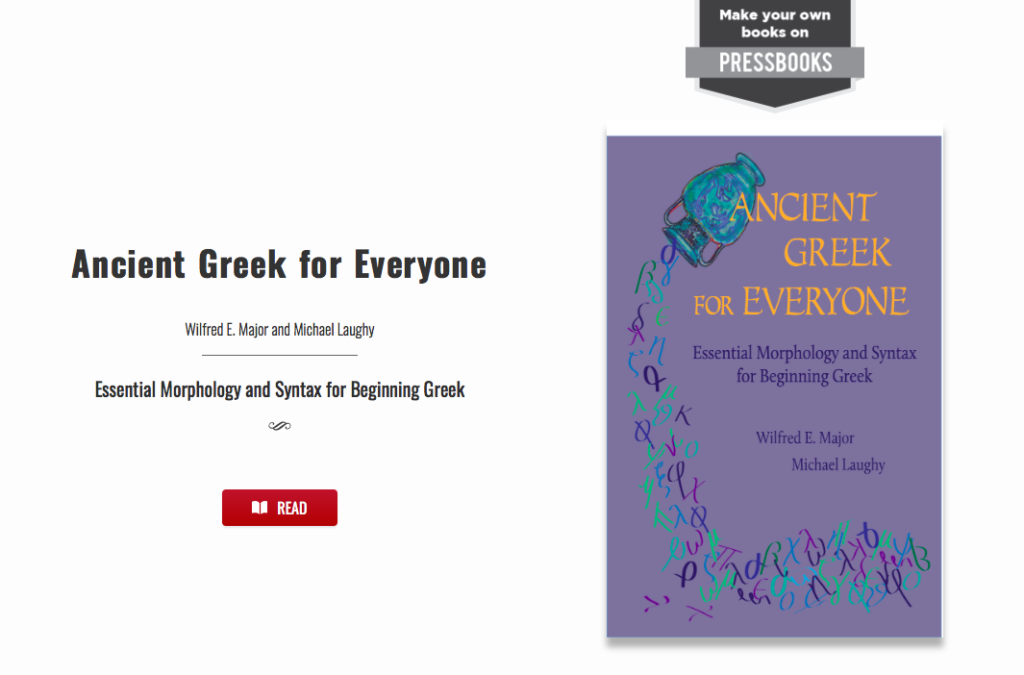 Web book: Ancient Greek for Everyone open textbook