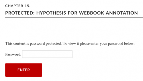 Password protected chapter
