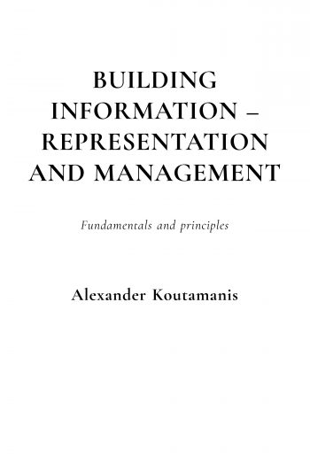 Cover image for Building information - representation and management