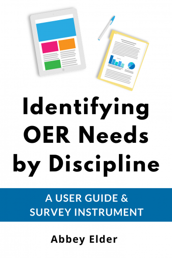 Cover image for Identifying OER Needs by Discipline