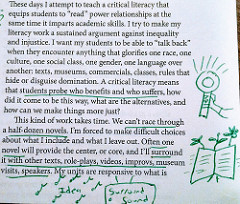 An picture of an annotated piece of text