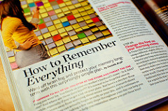 """Picture showing the first page of a magazine article with the title """"How to Remember Everything"""""""
