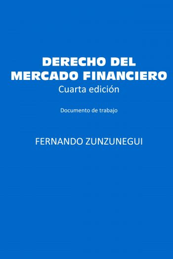 Cover image for Derecho del Mercado Financiero