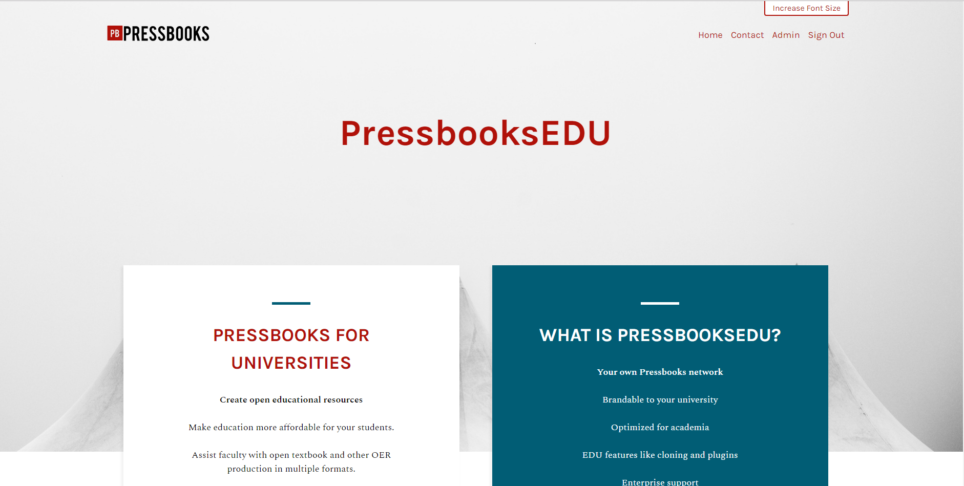 screenshot of Pressbooks Aldine theme