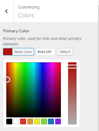 Enter your hex code or select your color from the prism