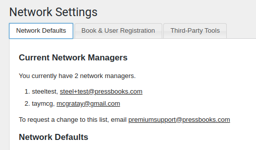 Screenshot of the Network Options page showing sample text and three basic tab choices