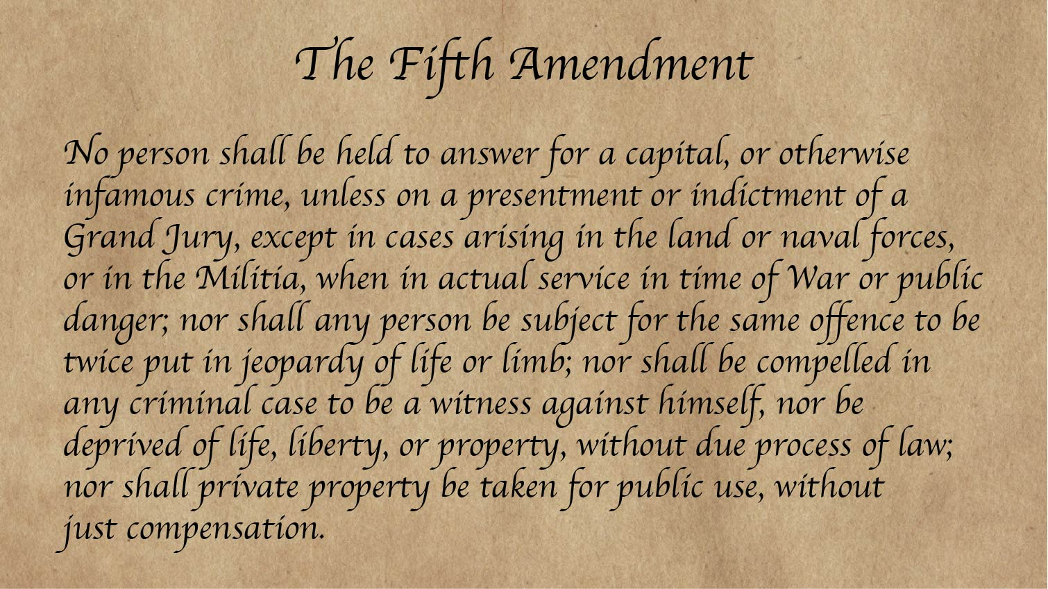 Language of the Fifth Amendment