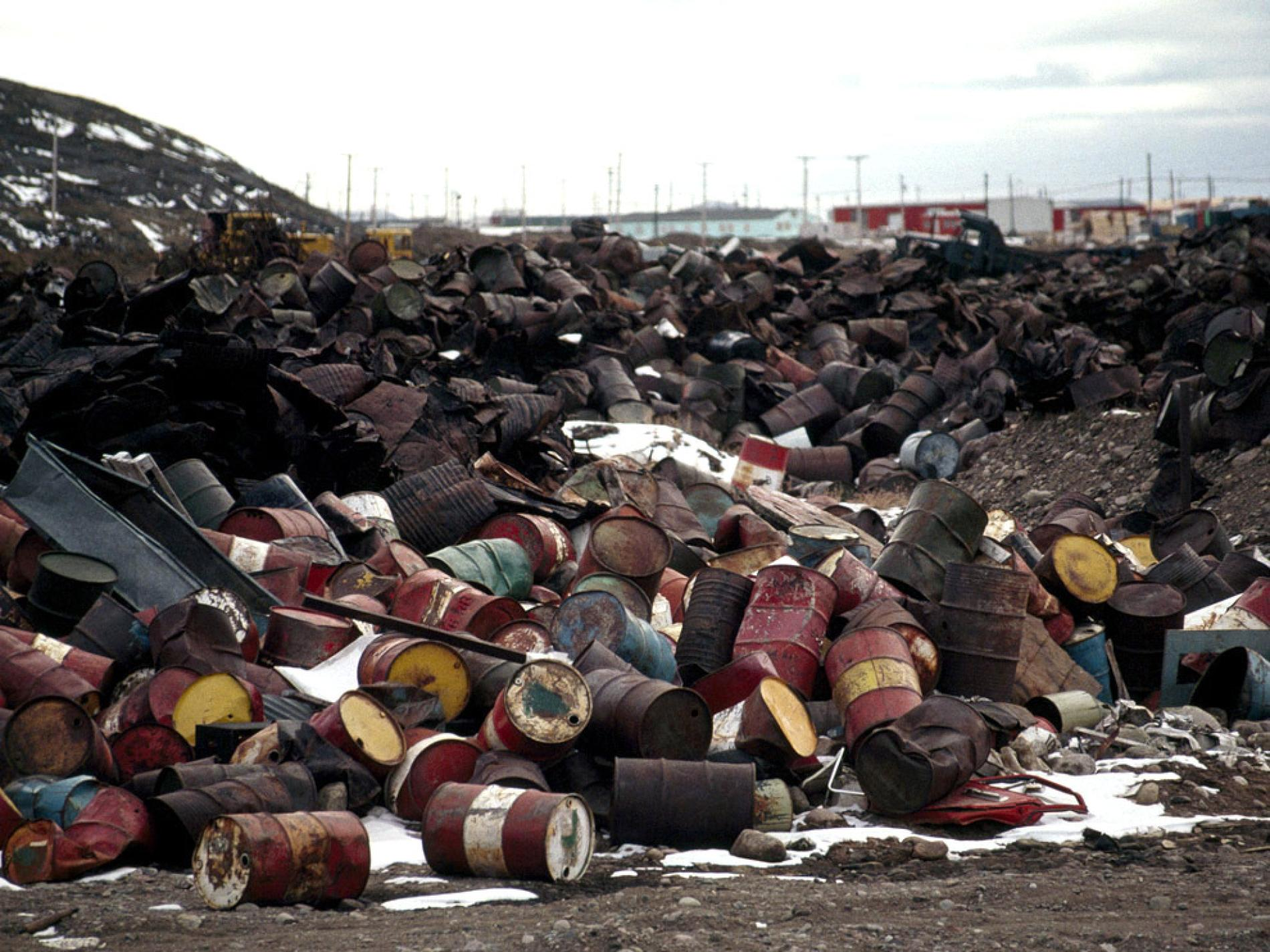 Photo of improperly disposed toxic waste