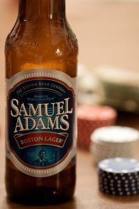photo of Samuel Adams beer bottle