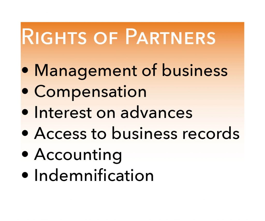 list of rights of partners