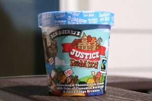 photograph of Ben & Jerry's Justice ReMix'd ice cream container