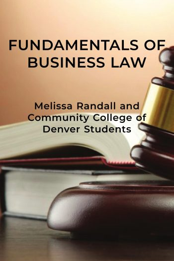Cover image for Fundamentals of Business Law