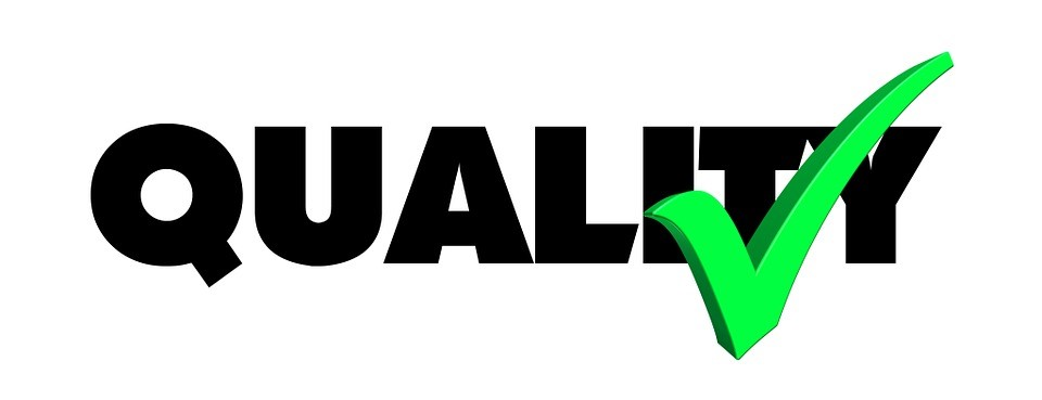 the word quality with a checkmark next to it