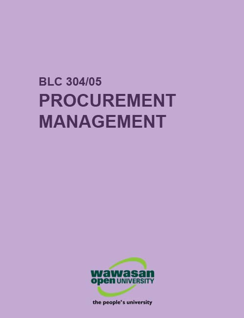 Cover image for BLC 304/05 Procurement Management