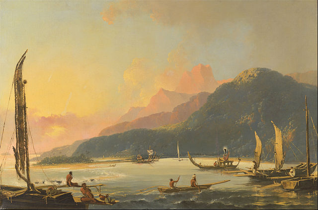 Williams Hodges: La bahía de Matavai, 1776