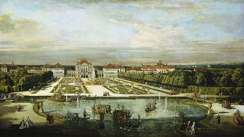 Bernardo Bellotto: palacio de Nymphenburg, 1760