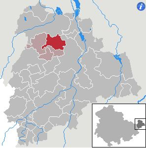 Location of the municipality Rositz in the district Altenburger Land