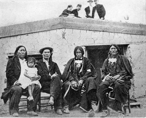 Bent with Arapaho Indians