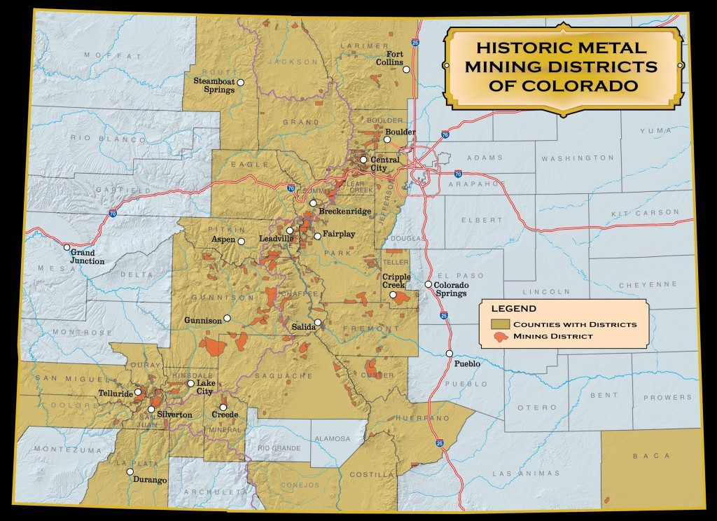 Map Mining Districts in CO