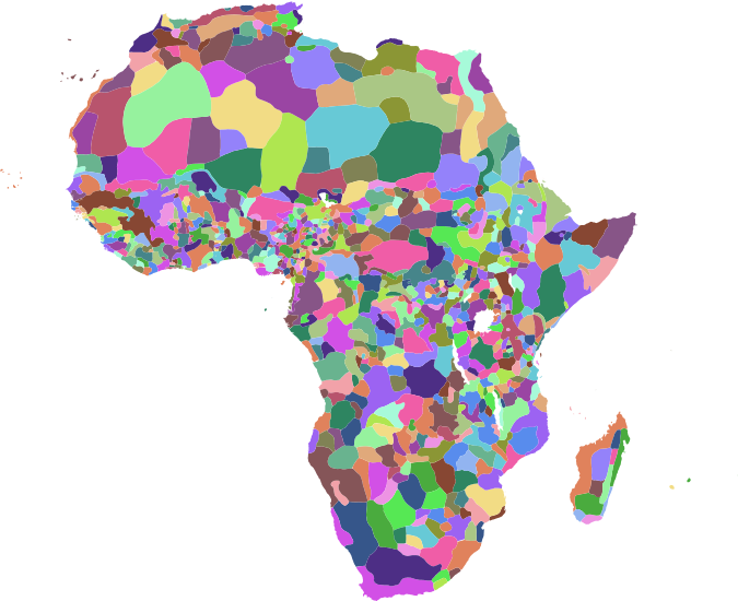 Map of the pre-colonial ethnographic regions of Africa