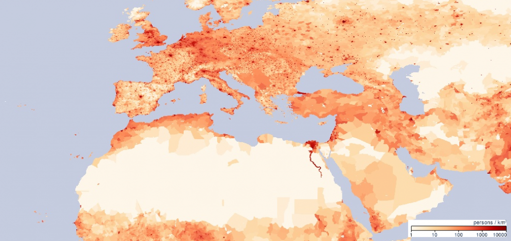 North Africa Population Density Map.North Africa And Southwest Asia World Regional Geography