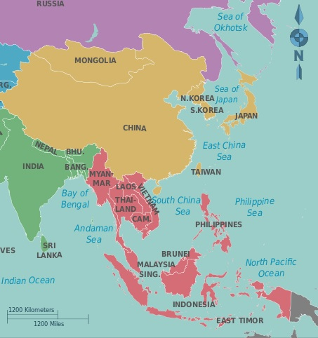southeast and east asia map East And Southeast Asia World Regional Geography