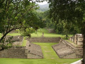 Image of the ball courts at Copan