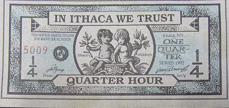Image of an Ithaca Hours Note
