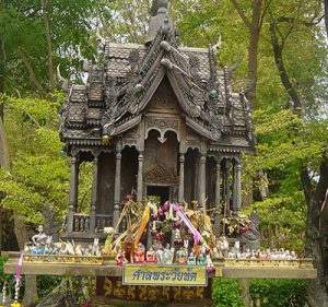 A Spirit House in Thailand