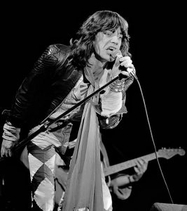 Mick Jagger performing live