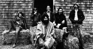 Black and white photo of The Grateful Dead (1970)