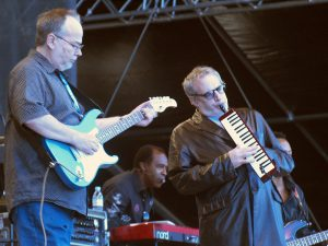 Color photo of Becker and Fagen of Steely Dan at Pori Jazz