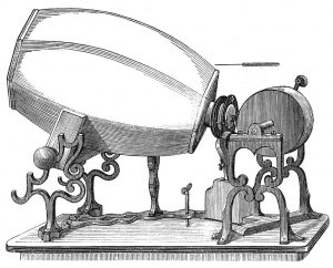 Etching of a phonautograph.