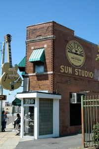 Image of Sun Studio records building.