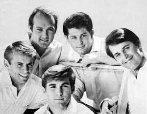 Black and white image of the Beach Boys.