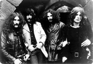Black and white press photo of Black Sabbath