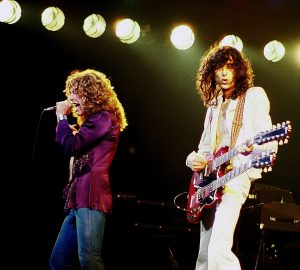 Color photo of Jimmy Page and Robert Plant - Led Zeppelin (1977)