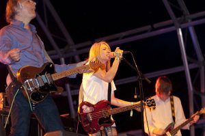 Color photo of Sonic Youth live.